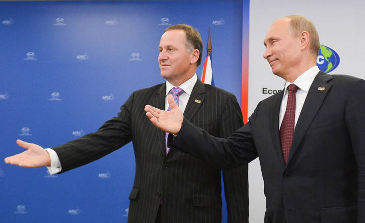 John Key and Vladimir Putin APEC 2012